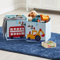 Image of Transport Twin Pack Storage Boxes Blue Yellow and Red